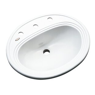 Solidcast Sierra Oval Drop-In Bathroom Sink with Overflow