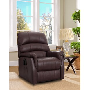 Perrault Leather Power Lift Assist Recliner By Winston Porter
