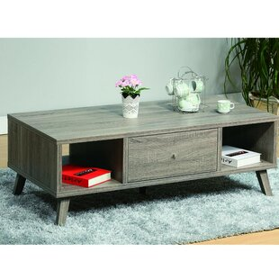 Cloutier Elegant Wooden Coffee Table with Storage