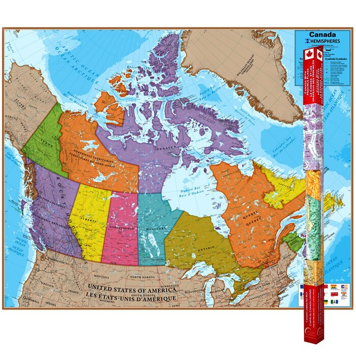 Hemispheres Laminated Map, Canada, 47\