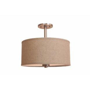 3-Light Semi-Flush Mount by Woodbridge Lighting
