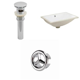 Affordable Ceramic Rectangular Undermount Bathroom Sink with Overflow ByAmerican Imaginations