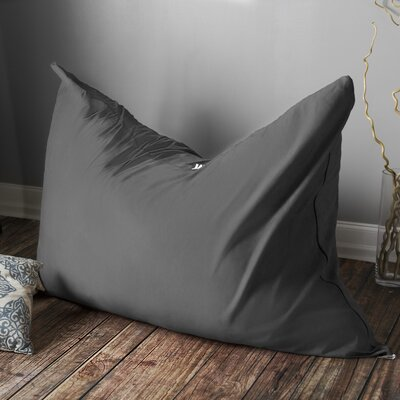 Stupendous Latitude Run Bean Bag Lounger Upholstery Microsuede Charcoal Unemploymentrelief Wooden Chair Designs For Living Room Unemploymentrelieforg