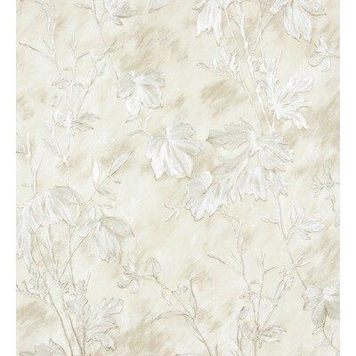 "Gilmer 33' L x 21"""" W Texture Wallpaper Roll World Menagerie Color: White"