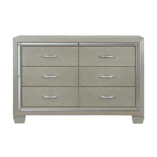 Rocky 6 Drawer Double Dresser