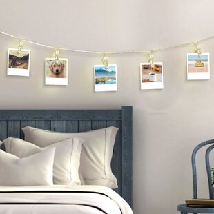 The Holiday Aisle Hankins Clipper Clear Clothes Pin LED 10-Light Novelty String Light