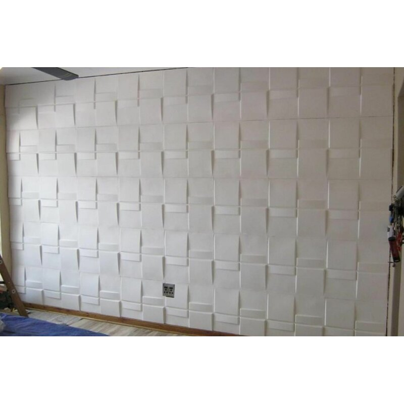 500MM X 500MM Acoustic Foam Tiles Self Adhesive Backed in white x 36 tiles