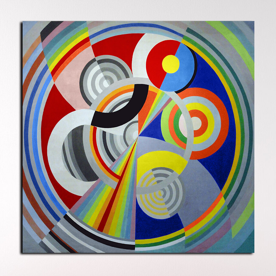 Epic Graffiti Rythme N 1 By Robert Delaunay Graphic Art On Wrapped Canvas Wayfair