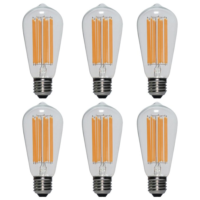 60 Watt Equivalent ST64 LED, Dimmable Light Bulb, Warm White (2700K) E26  Base