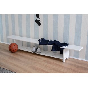 Sunni Wood Bench By 17 Stories