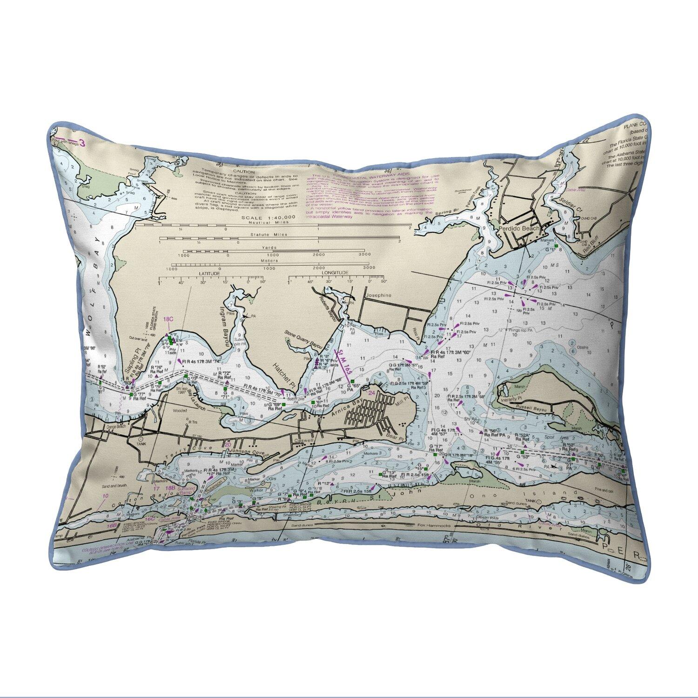 East Urban Home Orange Beach Al Zippered Indoor Outdoor Lumbar Pillow Wayfair