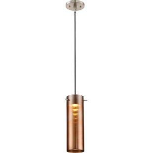Wrought Studio Ragusa 1 Light LED Cylinder Pendant