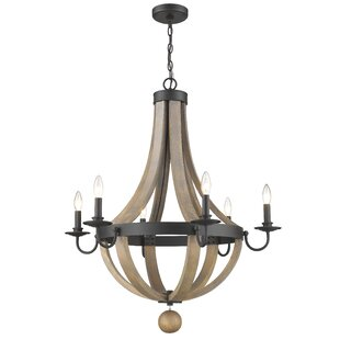Pittman 6-Light Candle Style Chandelier