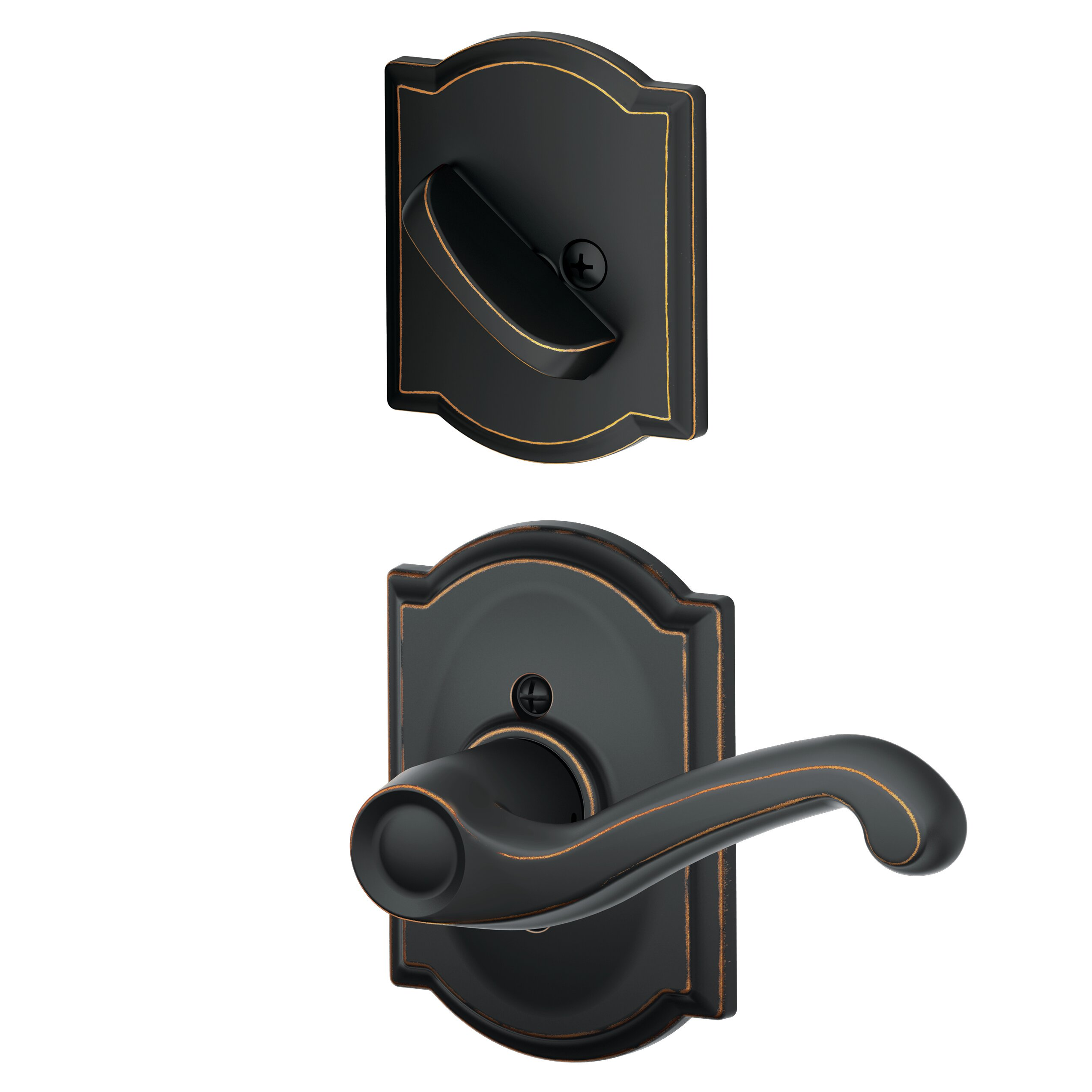Schlage Inactive Interior Flair Lever Camelot Rosette Dummy Entry Set Exterior Portion Sold Separately Wayfair