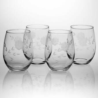 33a3b9e5052 The Holiday Aisle Palmer White Christmas 21 oz. Stemless Wine Glass ...