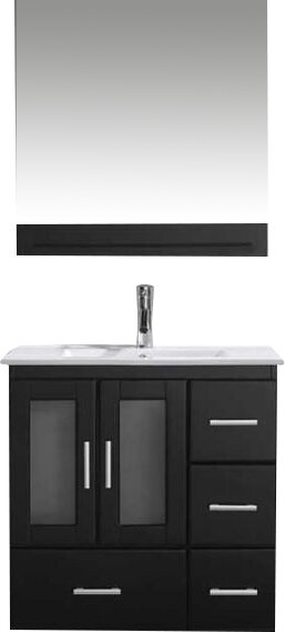 Duke 48 Single Bathroom Vanity Set With Mirror Reviews AllModern Interesting Bathroom Remodeling Durham Nc Set