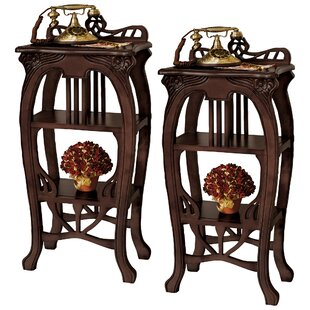 Art Nouveau Harp End Table (Set of 2)