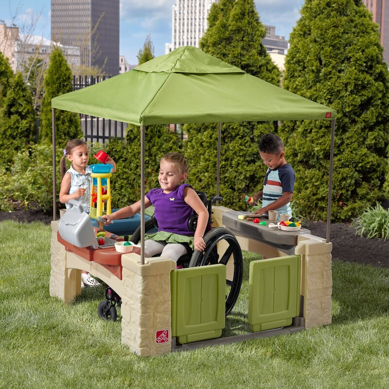 Awesome All Around Playtime Patio Playhouse With Canopy