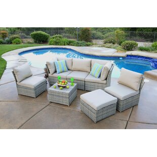 Gil 7 Piece Deep Seating Group with Cushion