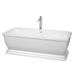 Candace 68 x 32 Freestanding Soaking Bathtub by Wyndham Collection