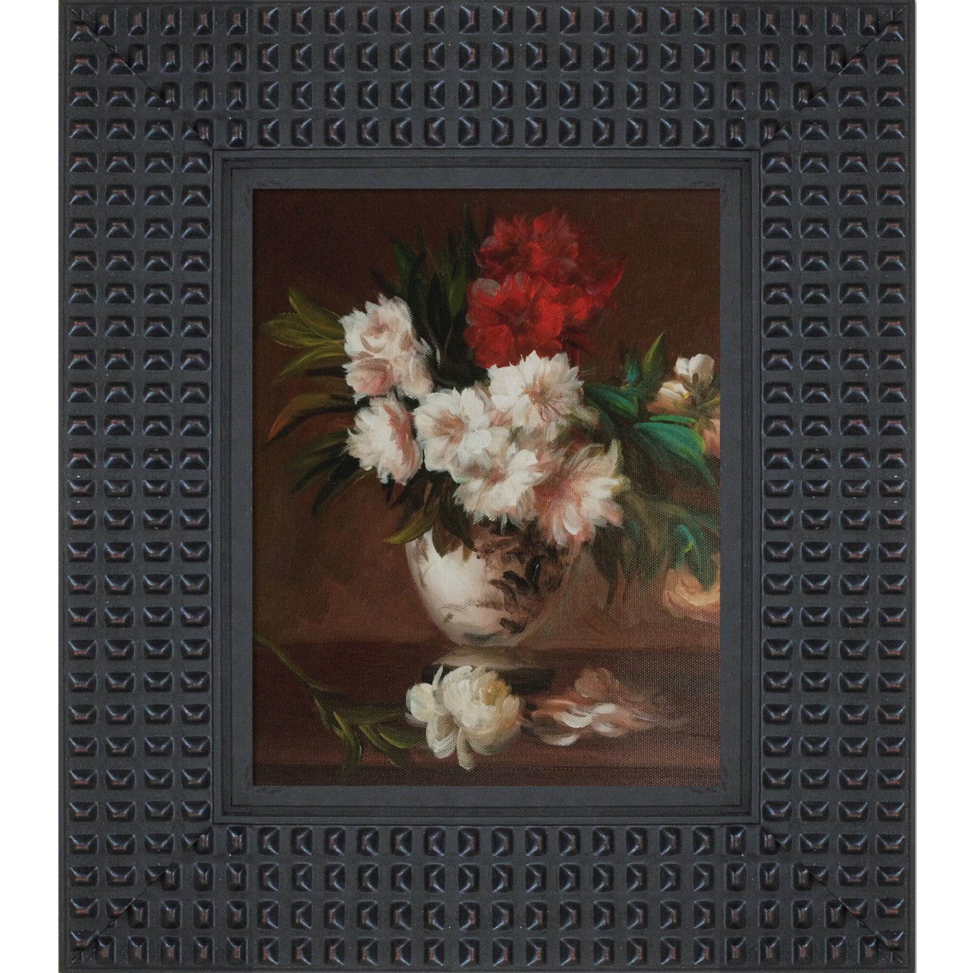 Vault W Artwork Peonies In A Vase Picture Frame Oil Painting Print On Canvas Wayfair
