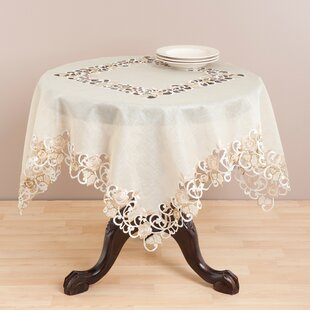 Embroidered and Cutwork Table Cloth