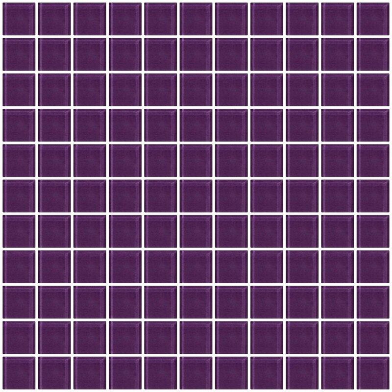 Susanjablon 1 X Gl Mosaic Tile In Lavender Purple Reviews