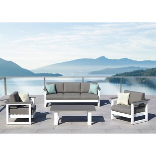 Lucas 4 Piece Conversation Set with Cushions