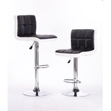 Bampt Adjustable Height Swivel Bar Stool (Set of 2) by Orren Ellis