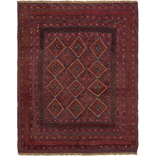 Looking for One-of-a-Kind Earley Hand-Knotted 4'7 x 5'9 Wool Red/Black Area Rug By Isabelline