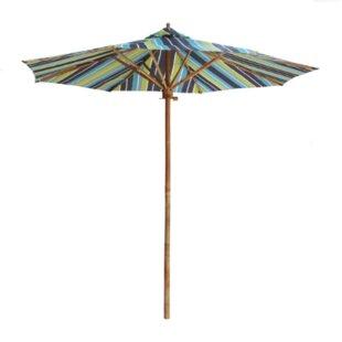 Bayou Breeze Dorathy 7 Foot Bamboo Umbrella With Pottery Polyester Canvas