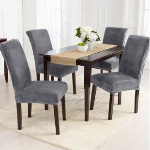 Velvet Plush Dining Chair Slipcover (Set of 2)
