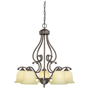 Comparison Beau 5-Light Shaded Chandelier By Fleur De Lis Living