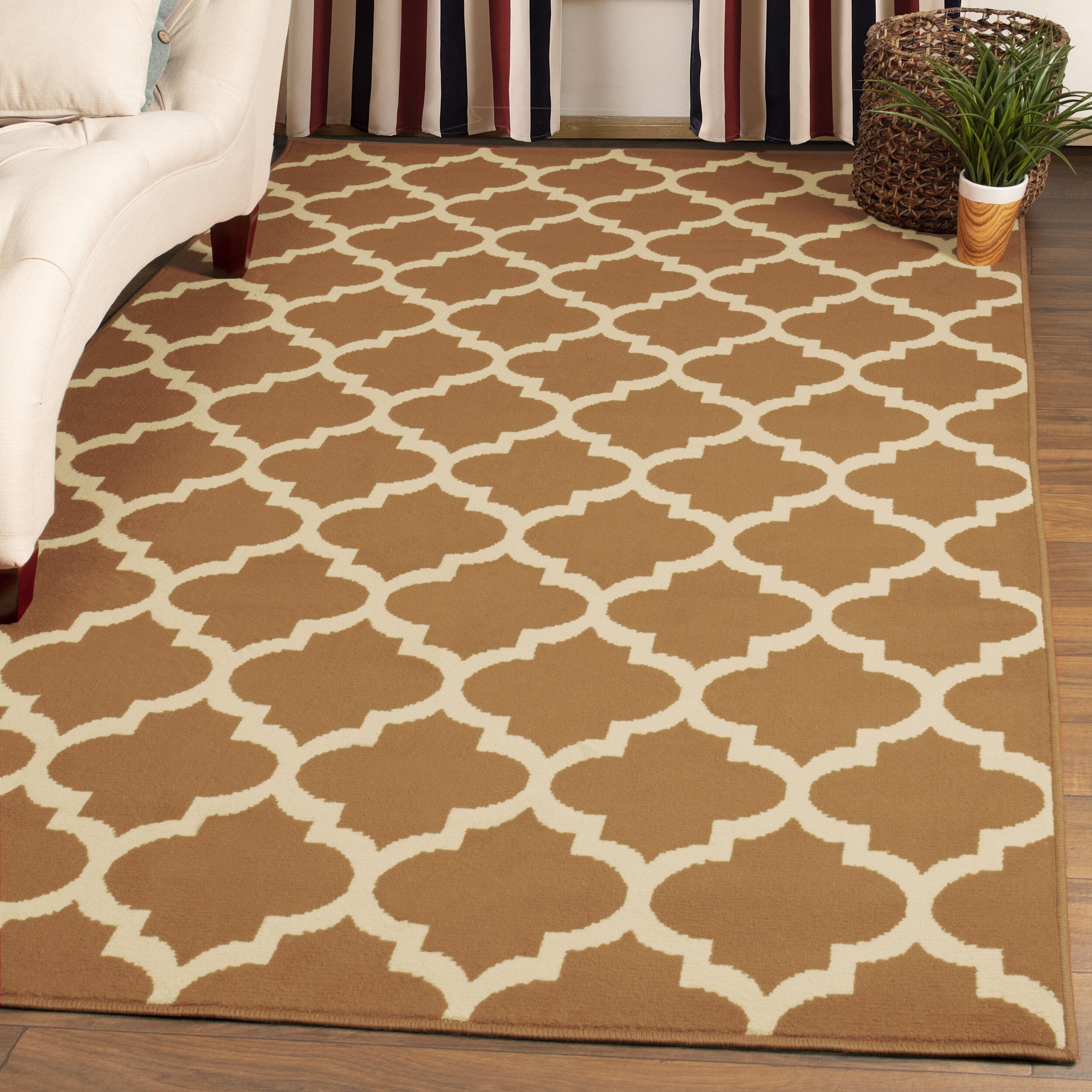 Charlton Home Horrell Geometric Camel Area Rug Reviews