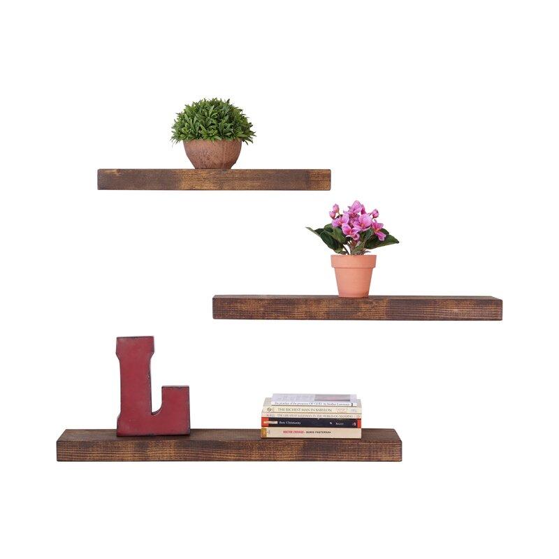 Floating Shelf delhutsondesigns true 3 piece floating shelf set & reviews | wayfair