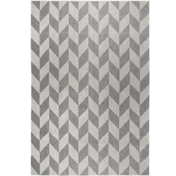Nicole Miller Geometric Black Gray Indoor Outdoor Area Rug Reviews Wayfair