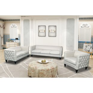 Best Price Lack Modern Nail-head 3 Piece Configurable Living Room Set by House of Hampton Reviews (2019) & Buyer's Guide