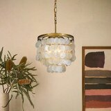 Dickison 3 - Light Statement Tiered Chandelier with Seashell Accents