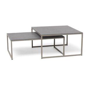 Aleyska 2 Piece Aluminium Coffee Table Set Image