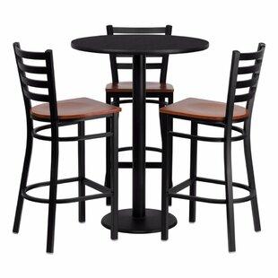 Red Barrel Studio Philbrook 4 Piece Pub Table Set