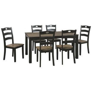 Penzance 7 Piece Dining Set by Three Posts New