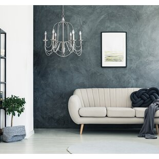 Kollman 6-Light Candle Style Chandelier by Ophelia & Co.