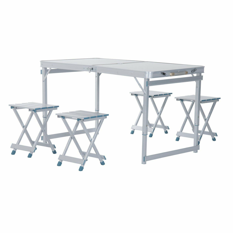 Freeport park spivey outdoor folding aluminum picnic table wayfair watchthetrailerfo