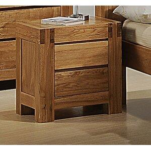 Nachttisch Liam mit 2 Schubladen von Homestead Living