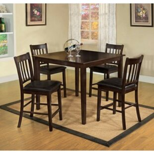 Timberlake 5 Piece Counter Height Solid Wood Dining Set Winston Porter