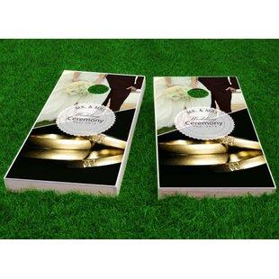 Custom Cornhole Boards Wedding Gold Rings Cornhole Game (Set of 2)