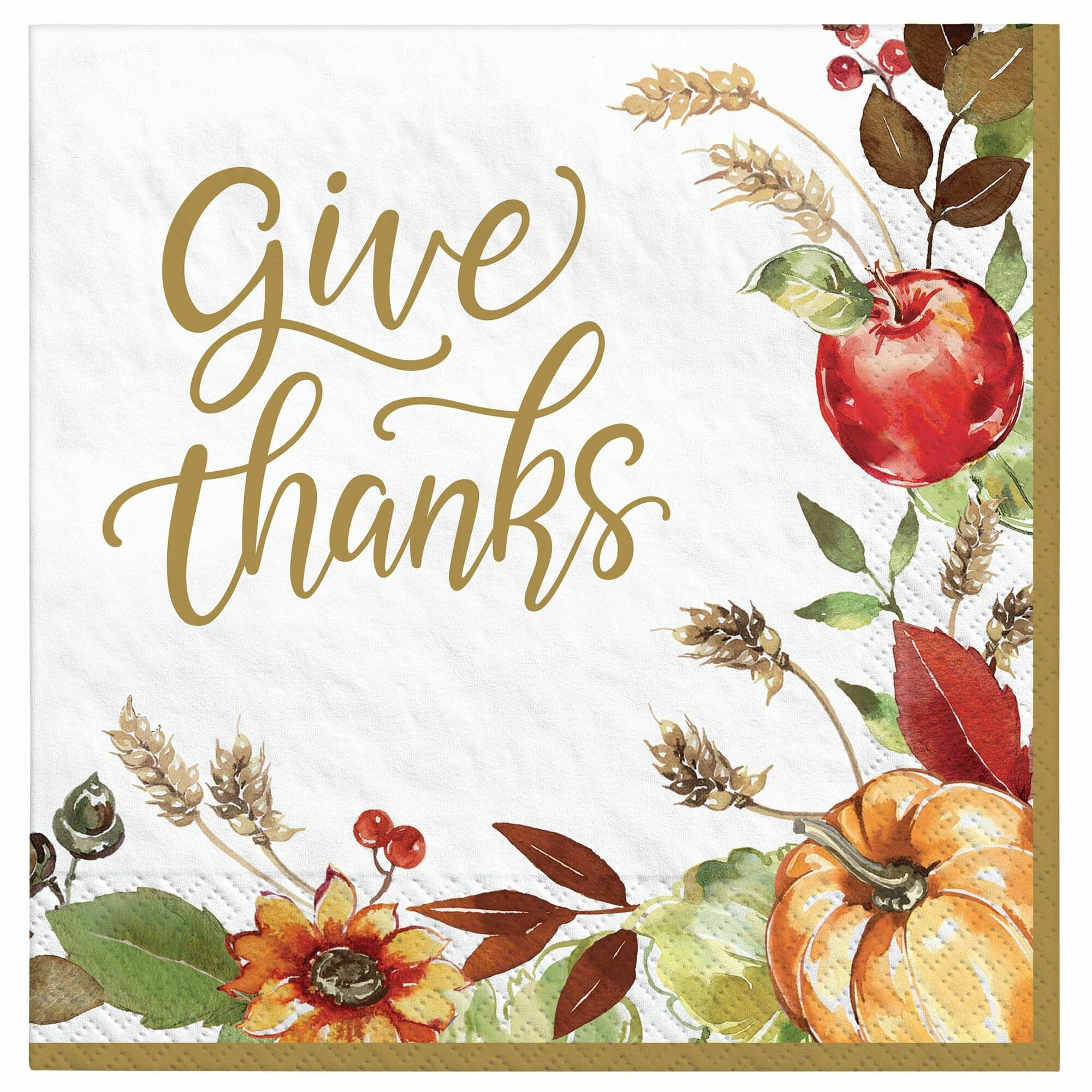 Amscan Grateful Day Basic Paper Disposable Dinner Napkin Wayfair