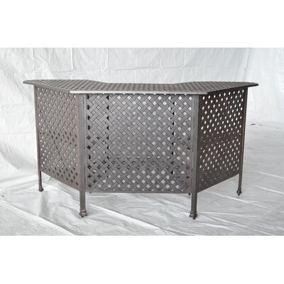 Nola Metal Bar Table by Darby Home Co Top Reviews