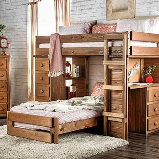 Florentine Twin over Twin L Bunk Bed with Drawers by Harriet Bee