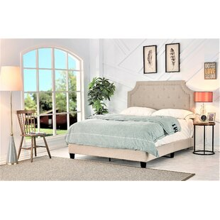 Sisemore Upholstered Panel Bed by Charlton Home
